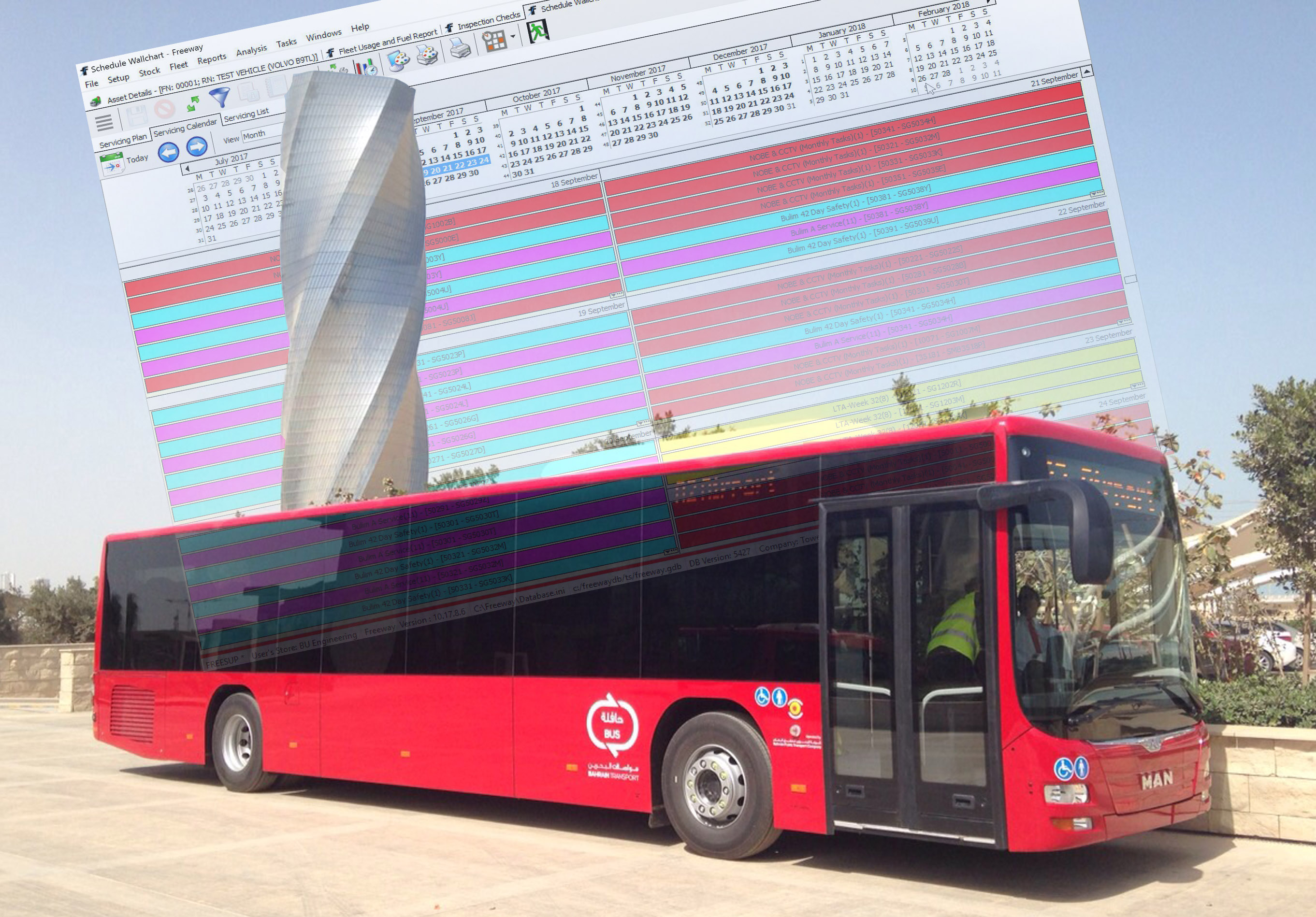 Bahrain Bus opts for Freeway Software to Manage Fleet